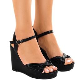 Negru Pantofi neagră cu pantofi strălucitori JM-M215M
