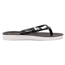 Seastar negru Flip-flops cu arcul