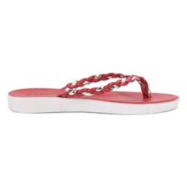 Seastar Flip-flopuri din țesătură roșie roșu