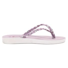 Seastar Flip-flopuri impletite cu violete