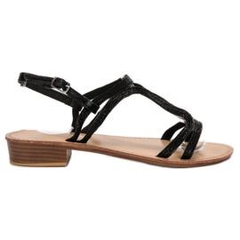 SHELOVET Sandale în tocuri negru