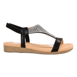 Top Shoes Sandale negre elegant negru