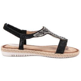 Emaks Slip sandale Espadrilles negru