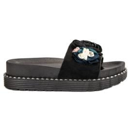 Bello Star negru Papuci pe platformă