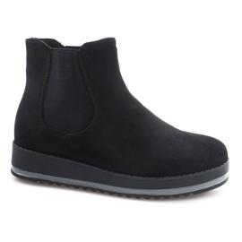 Cizme izolate cizme pentru genunchi K-105 negru