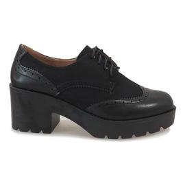 Negru Pantofi negri pe stâlpul de jazz A532