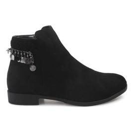 Suede cizme din piele LL113 Negru