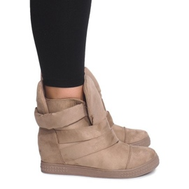 Maro Sneakers Wedge Cu Velcro 1703 Camel