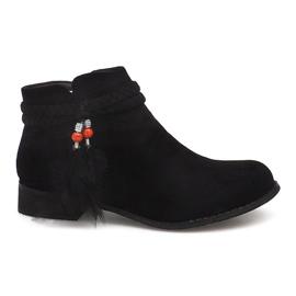 Cizme cizme Jodhpur cizme din piele H1911 Negru