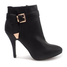 Elegant cizme pe un pin 6-148 negru