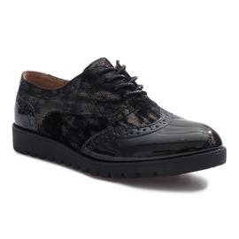 Negru Pantofi de piele neagră Adele