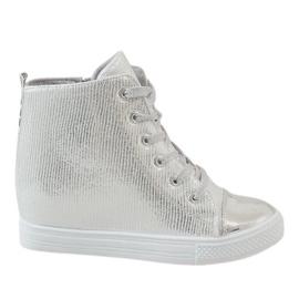 Gri Pantofi de argint pe pană 29333-2