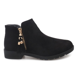 Suede Boots Jodhpur 8565 Negru