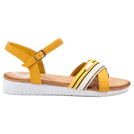Bello Star galben Sandale fixate cu o cataramă