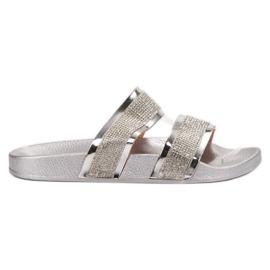 Erynn gri Papuci de argint
