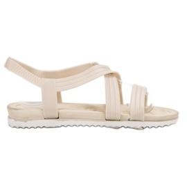 SHELOVET Sandale din cauciuc alb