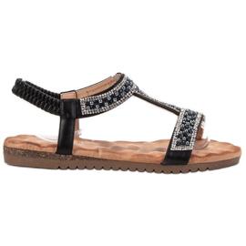Emaks Sandale pentru femei decorate negru