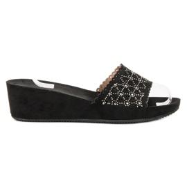 Primavera negru Pantofi pentru papuci