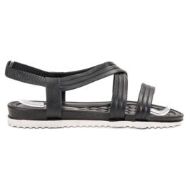 SHELOVET Sandale din cauciuc negru