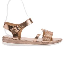 SHELOVET Sandale modă cu zirconi