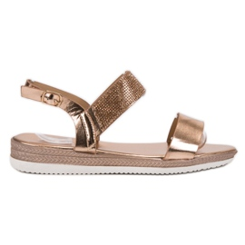 SHELOVET Casual Rose Sandals de aur