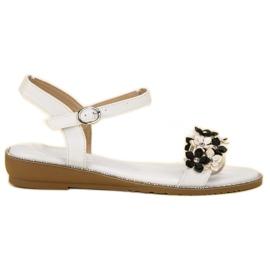 Forever Folie alb Sandale cu flori