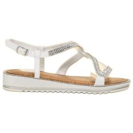SHELOVET alb Sandale pe platformă