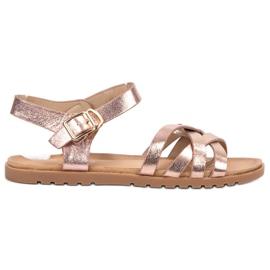 BLESS roz Sandale de aur clasic de aur
