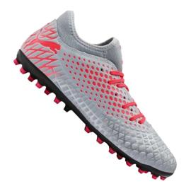 Cizme de fotbal Puma Future 4.4 Mg M 105689-01 roșu, gri / argintiu gri
