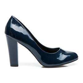 Sweet Shoes albastru Pompele lăcuite pe un bar