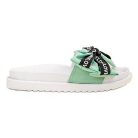 Jumex verde Flip Flops cu Love Bow
