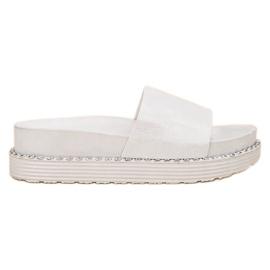 Melisa alb Flip Flops
