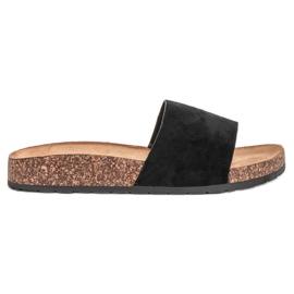Bello Star Papuci de culoare clasic negru