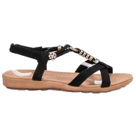 SHELOVET Sandale pe negru
