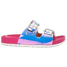 Ideal Shoes gri Papuci cu cataramă Holo