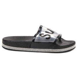 Bona Flip Flops transparente negru