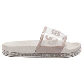 Bona gri Flip Flops transparente