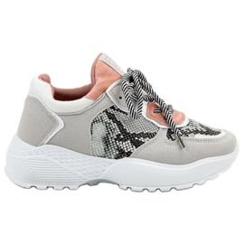 SHELOVET Moda Sneakers imprimare șarpe gri