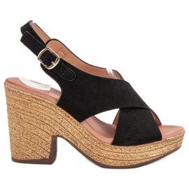 Anesia Paris negru Pantofi cu tocuri inalte