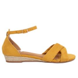 Sandale espadrille galben 9R121 Galben