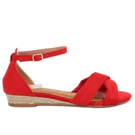 Sandale espadrille roșu 9R121 Roșu