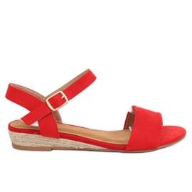 Sandale espadrille roșu 9R73 Roșu