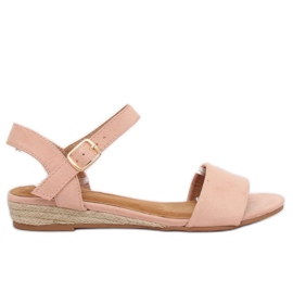 Sandale espadrille roz 9R73 roz