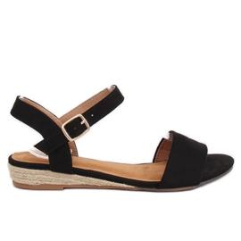 Sandale espadrille negru 9R73 Negru