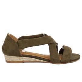 Sandale espadrille verde 9R72 Verde