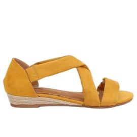Sandale espadrille galben 9R72 galben