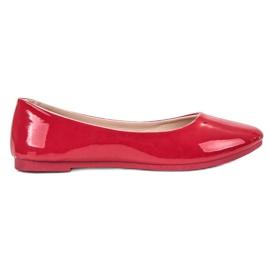 SHELOVET Lacuri de ballerina roșu