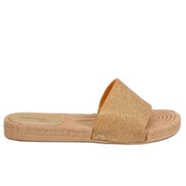 Galben Papuci de aur pentru femei JFF-V182 Golden