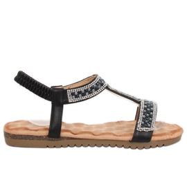 Negru Sandale negre pentru femei HT-67 Black