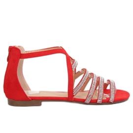 Sandale pentru femei roșii LL6339 Roșu
